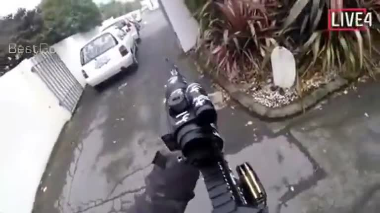 Livestreamed Video of Deadly Shooting Attack on Mosque in NZ